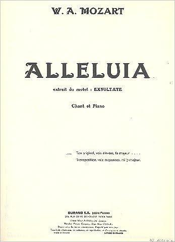 Livres gratuits Alleluia Exultate Soprano-Piano pdf, epub ebook