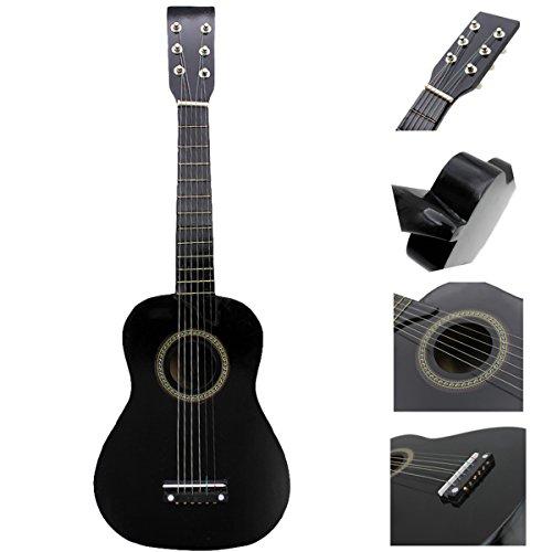"Blueseason Kids Guitar New Mini 23"" Beginners Student Children Classical Acoustic Guitar, Black - Image 5"