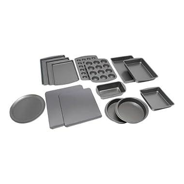 Mainstays 14-Piece Deluxe Bakeware Set, Grey