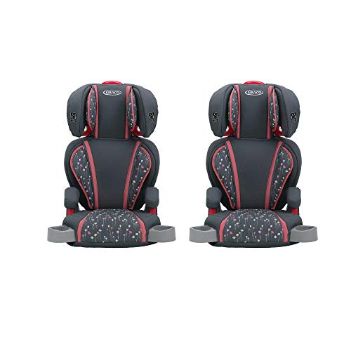 Graco Highback TurboBooster Height Adjustable Childrens Car Seat, Alma (2 Pack)