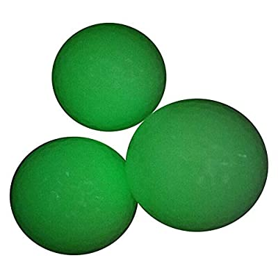 EliteShine (Pack of 3) Luminous Fluorescent Training Golf Balls for Night Golfing Long Lasting & Reusable Bright Night Golf Ball,Rechargeable by Sun Light,Glow in The Dark,Easy to Golf