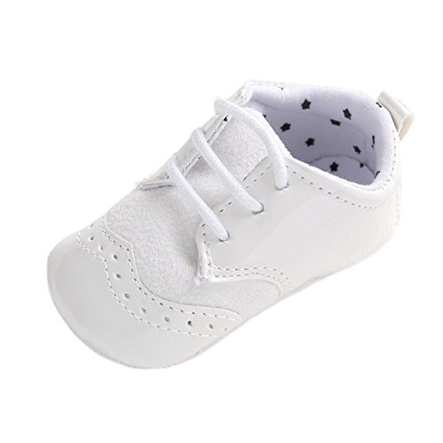 Loafer Soft Soled Leather Shoes (Infant Baby Classic England PU Leather Soft Soled Anti-slip Toddler Shoes WHITE 6-12m)