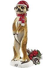 Design Toscano QL957961 Merry Meerkat Holiday Greeter Statue (Set of 2)