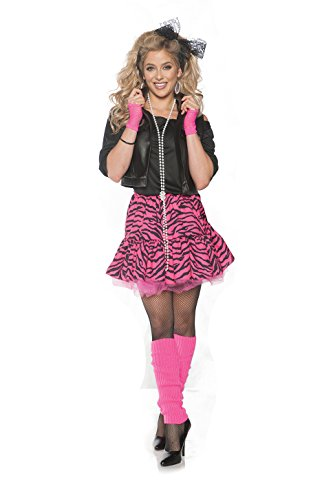 Rockin' the 80's Valley Girl Costume - Pink, Medium (Pat Benatar Costumes)