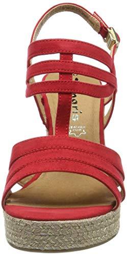 Alla Cinturino 22 Sandali Rosso Caviglia 28372 lipstick 1 Tamaris Con 1 515 Donna 0wtxIY6nqR