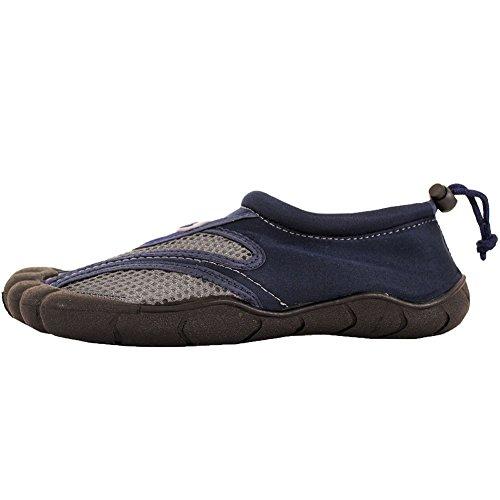 Facile Usa Hommes Toe Slide Aqua Chaussettes Chaussures Deau Gris / Bleu