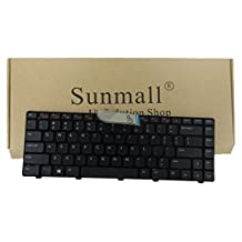 SUNMALL Keyboard Replacement with Frame for Dell Inspiron 14R N4110 N4120 M4110 N4050 N5040 N5050 M5040 M5050, VOSTRO 1440 1445 1450 1550 2420 2520 3350 3450 3460 3550 3555 3560(6 Months Warranty)