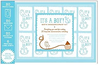 product image for Magic Cabin Chronicle Books Birth Announcement Kit, for Boys