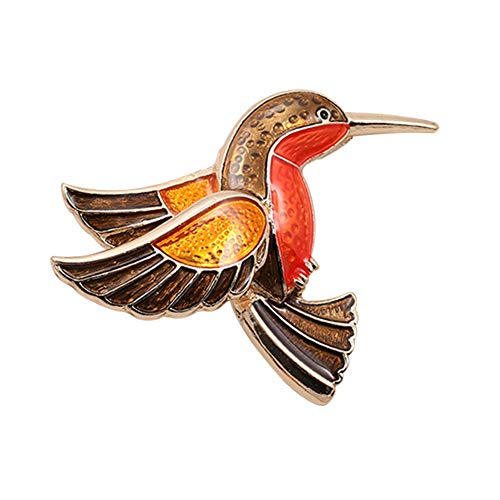 litymitzromq Brooch Lapel Pins, Retro Bird Brooch Pin Collar Enamel Badge Women Jeans Hat Scarf Clothes Jewelry for DIY Clothing Bags Backpacks Jackets Hat ()