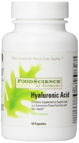 Foodscience of Vermont Hyaluronic Acid (Yeast Free, 60 Vegetarian Capsules) by Food - Food Hyaluronic Science Acid