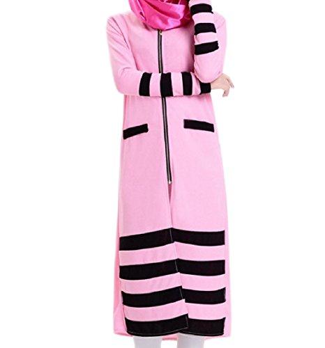donne Tagliato Pattern1 Abiti Abito Arabo Coolred Maglia Midi Striscia Musulmano Eleganti rrqB16