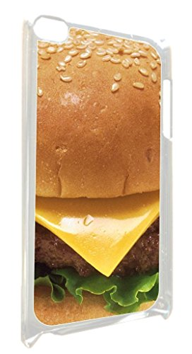 Cheesburger- TM Apple iPod 4 White Plsatic Case Made in the USA