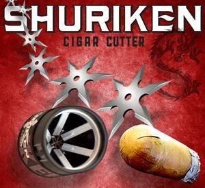 NEW SHURIKEN PERFECT DRAW CIGAR CUTTER