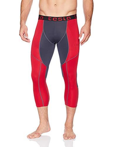 Tesla Men's Compression 3/4 Capri Shorts Baselayer Cool Dry Sports Tights MUC78/P15