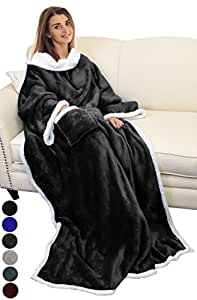 catalonia sherpa wearable blanket with sleeves arms super soft warm comfy large. Black Bedroom Furniture Sets. Home Design Ideas