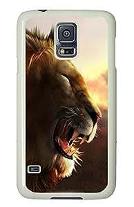 Samsung Galaxy S5 Jungle Lion King PC Custom Samsung Galaxy S5 Case Cover White
