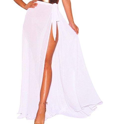 Eternatastic Womens Sexy Wrap Gauze Beach Cover up Maxi Skirt Bikini Sarong M ()