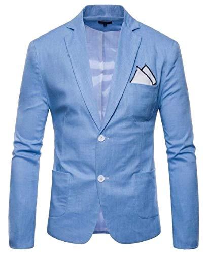 De Vêtements Manches Longues Revers 2 Fit Veste Boutons Blazer Business Mode Loisirs Hellblau Hommes Slim Casual À Avec Pour twvICzqIx