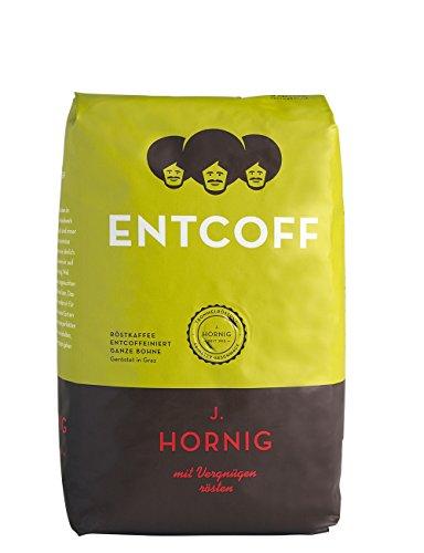 J. Hornig Entcoff - Kaffee entkoffeiniert ganze Bohne, 2er Pack (2 x 500 g)