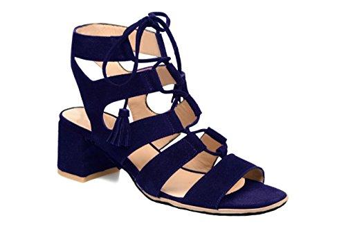 11sunshop - Sandalias de Vestir de Otra Piel Mujer Azul