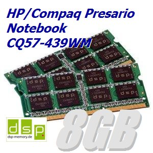 8 GB memoria/RAM para HP/Compaq Presario Notebook CQ57-439WM ...