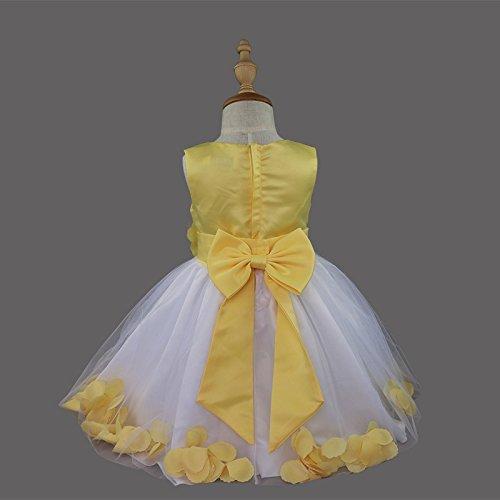 Petali Fiori Arco Ragazza Tiaobug Matrimonio Tutu Da Vestito Formale Giallo Sposa Spettacolo tInrtqx