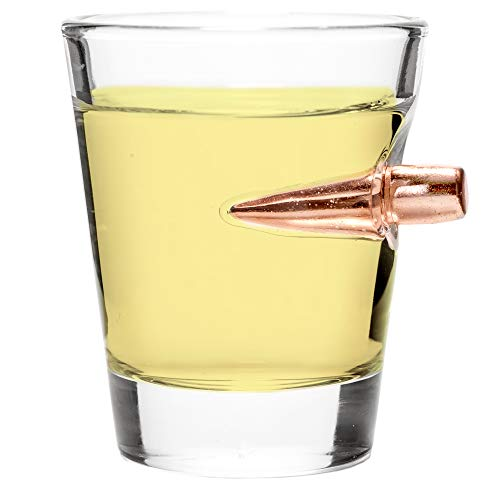 Lucky Shot .308 Real Bullet Handmade Shot Glass - 2oz