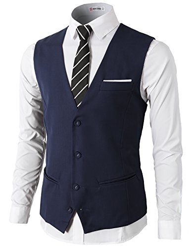 H2H Mens Formal Slim Fit Premium Busines - Navy Blue Dress Vest Shopping Results