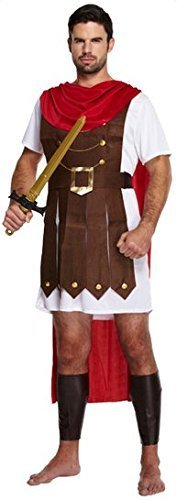 Mens Adult Roman Soldier Gladiator General Historical Fancy Dress Costume Outfit (STD) -