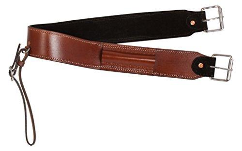 AceRugs Western Saddle Smooth Leather Brown Back Cinch Rear Girth Bucking Strap Flank Cinch (Standard)