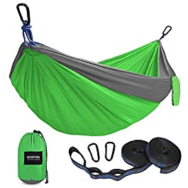 Kootek Camping Hammock Double & Single Portable Hammocks with 2 Tree Straps, Lightweight Nylon Parachute Hammocks for…