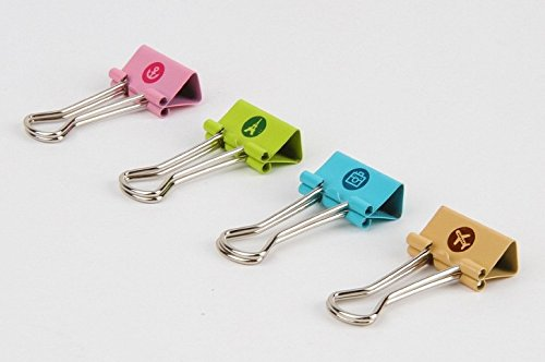 [해외]Camybb 스마일 바인더 클립, 19mm, 모듬 된 색상, 욕조 당 24 클립/Camybb Smiling Binder Clips ,19mm ,Assorted Colors ,24 Clips per Tub