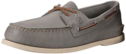 Sperry Men's Authentic Original Burnished, Grey Leather, 8 M US