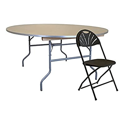 Cool Amazon Com 60 Inch 5 Foot Diameter Round Wood Table With Download Free Architecture Designs Scobabritishbridgeorg