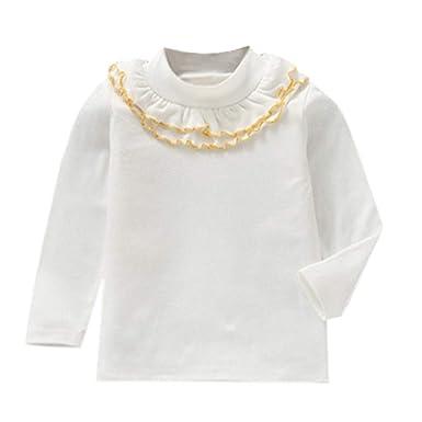 2e88e11be11f1 KEERADS Robe Fille, Top, Combinaison Bébé Enfants T Shirt T-Shirt Sequins  réversibles