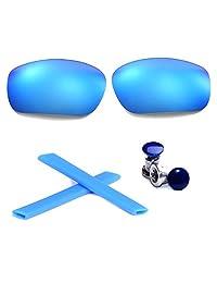 Walleva Polarized Lenses + Rubber + Bolt For Oakley Racing Jacket - Multiple Options
