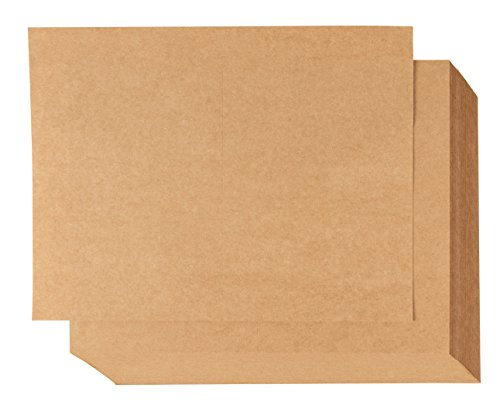Blank Postcards - 100-Sheet Kraft Paper Postcards, Printable Blank Note Cards for Inkjet and Laser Printers, 2 Per Page 200 Cards in Total, Perforated, 170GSM Cardstock 5.5 x 8.5 Inches