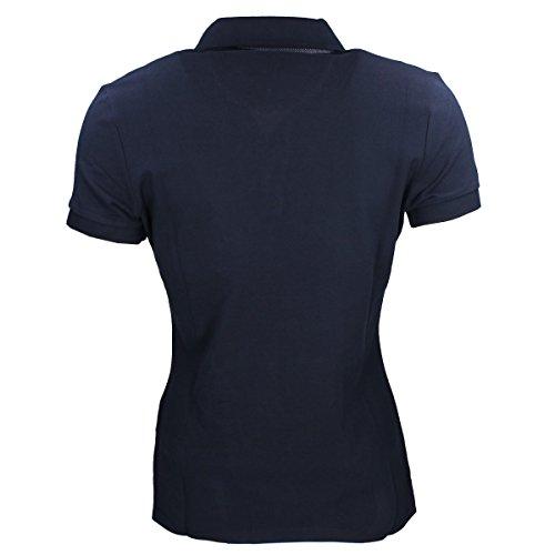 Elsa Damen Pikeur Avec Points Polo Shirt Bleu Contraste WSqwrqYd