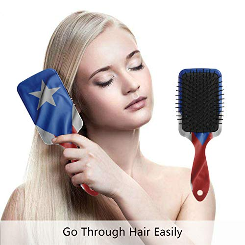 Multi Embroidered Jacket (Puerto Rico Flag Hair Brush,Scalp Massage Hair Comb with Air Cushion)