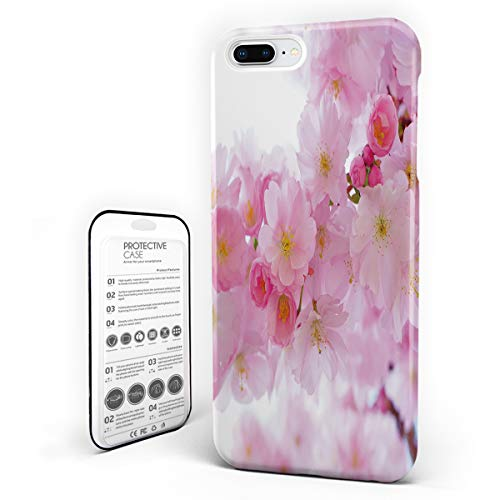 Customize Phone Protective Cover Peach Blossoms Bloom 3D Digital Printing Ultra Slim Protective Hard Plastic Case Cover for Cover Phone Case for iPhone 7 Plus/8 Plus