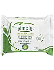 Simple Kind to Skin Oil Balancing Wipes 25 ct
