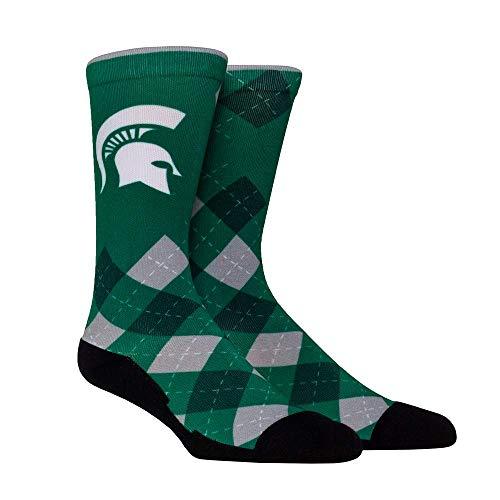 NCAA Super Premium College Fan Socks (L/XL, Michigan State Spartans - Argyle)