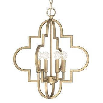 capital lighting 4541bg 4 light pendant in brushed gold finish - Capital Lighting