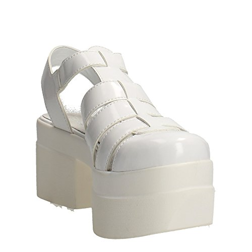 Cult CLE102541 Sandalen Damen Leder Weiß