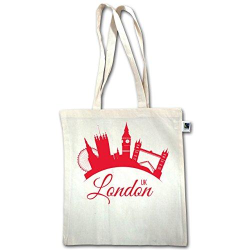 Skyline - Skyline Londra Regno Unito Inghilterra - Unisize - Natural - Xt600 - Jutebeutel Lange Henkel
