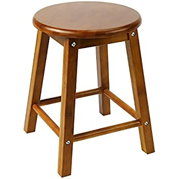 Square Leg Stool NNEWVANTE Small Bar Stool For Table Round Counter Stool  With Protected Mat 16in