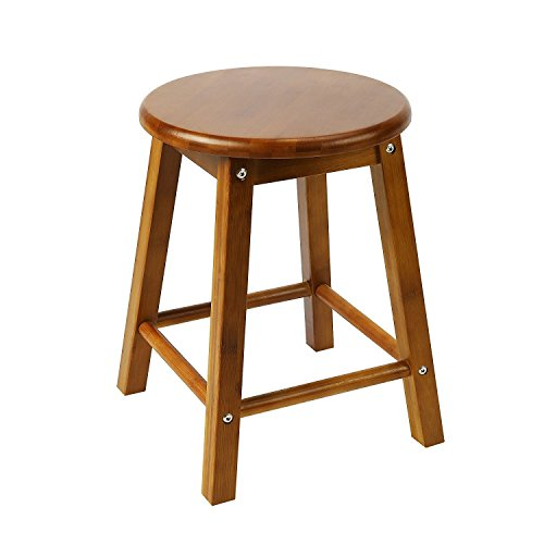 Square Leg Stool NNEWVANTE Small Bar Stool for Table Round Counter Stool with Protected Mat 16in, - Small Round