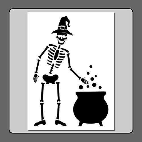 9 X 12 inch Skeleton w Witch Hat