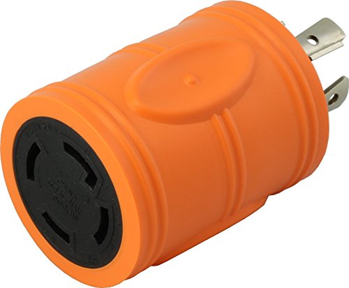AC Connectors [ADL1420L1430] 20Amp 4 Prong 125/250Volt L14-20P Locking Plug to L14-30R 30Amp 4Prong 125/250Volt Locking Female Connector Adapter 20a Ac Adapter