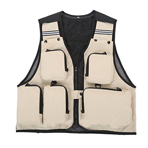 Schwarz, L: Outdoor Sport Kleidung Anglerweste Sommer Anglerweste Multi Pocket Angeln Regisseur photojournst Kleidung 7Farben
